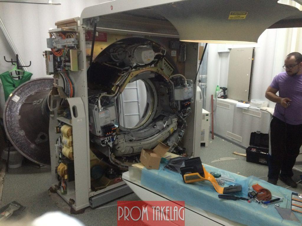 Такелаж и Установка медицинского Томографа в Черниговской Больнице